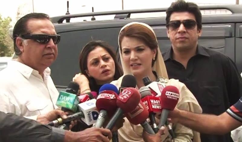 Reham Khan says the approach of the Sindh government towards heatwave victims was completely apathetic. — DawnNews screengrab