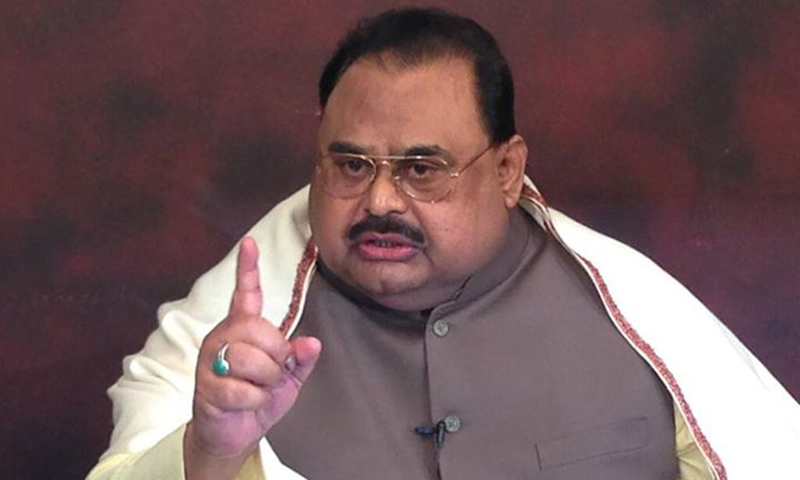 Muttahida Qaumi Movement chief Altaf Hussain alleges that the paramilitary force has turned Sindh into an occupied province. — Photo courtesy: MQM's Facebook page