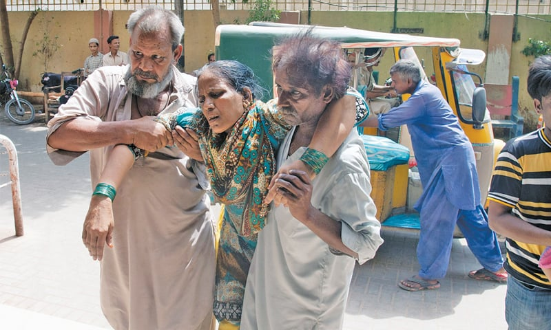 BY ANY MEANS NECESSARY: An elderly family arrive at a hospital in a rickshaw to seek treatment