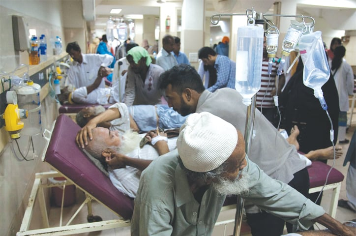 While hospital staff rushed to tend to the victims inside the ward, there were hundreds more outside awaiting their turn