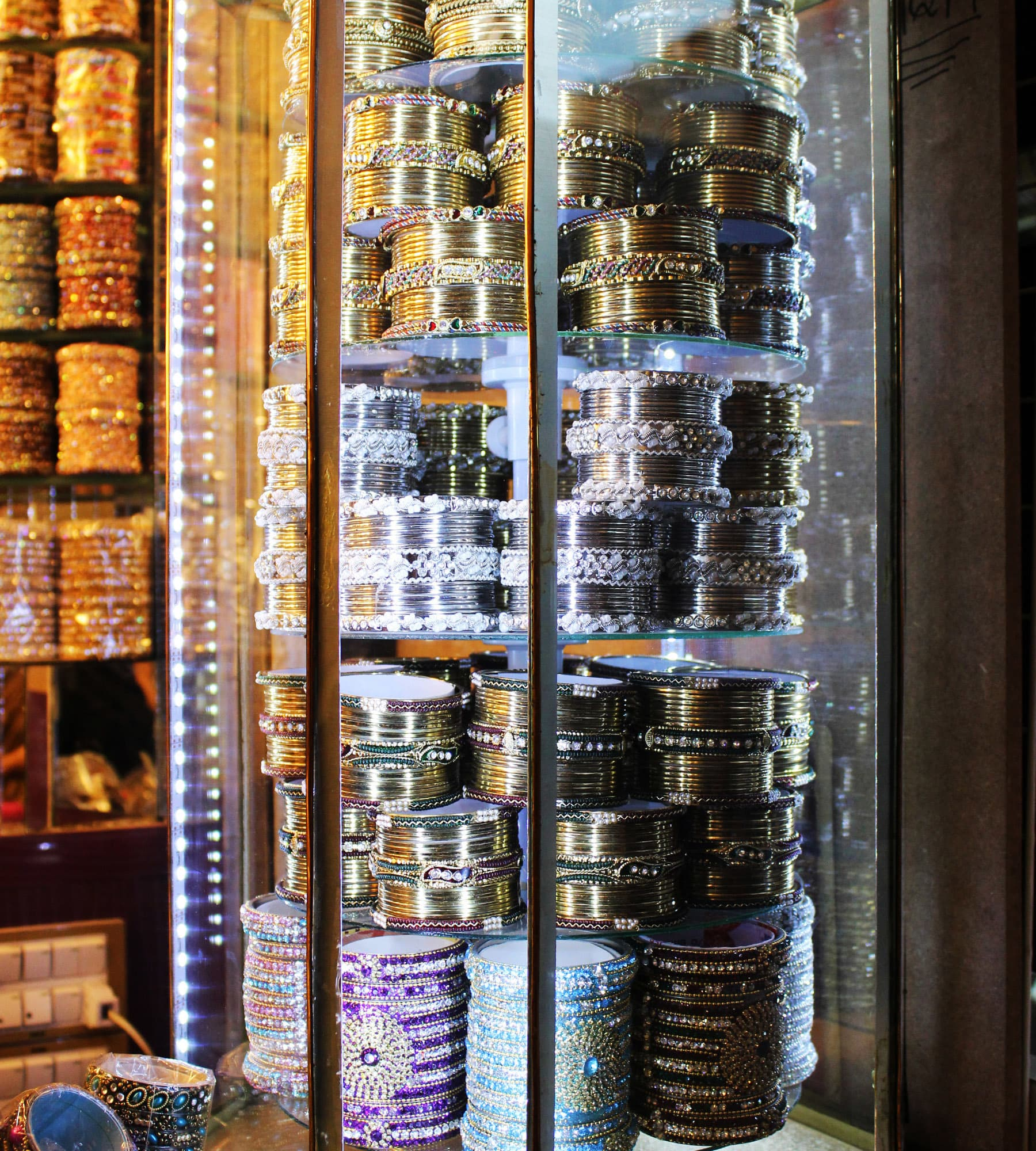 Some of the most traditionally designed choorian can also be purchased from Meena Bazaar.