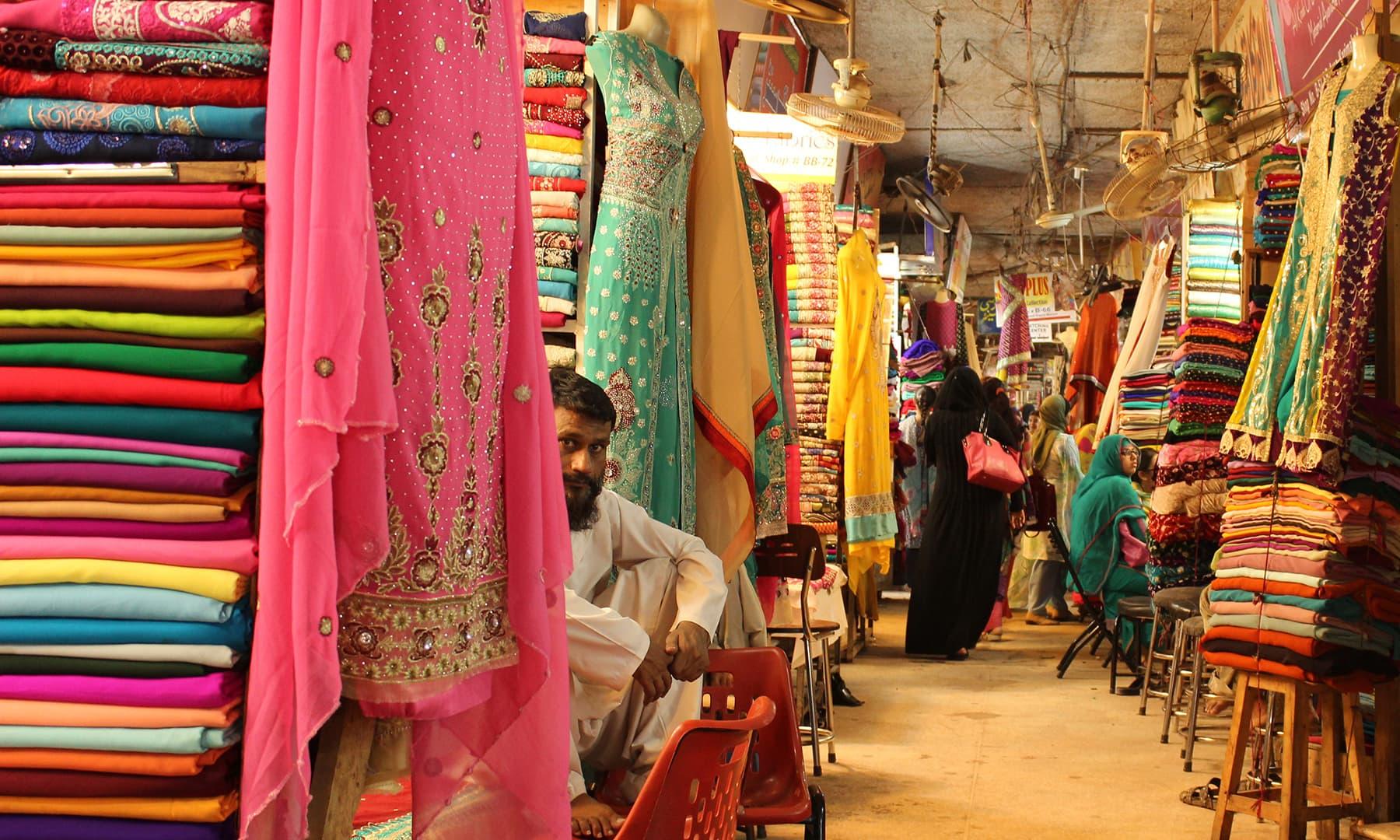 A quintessential street at Meena Bazaar.