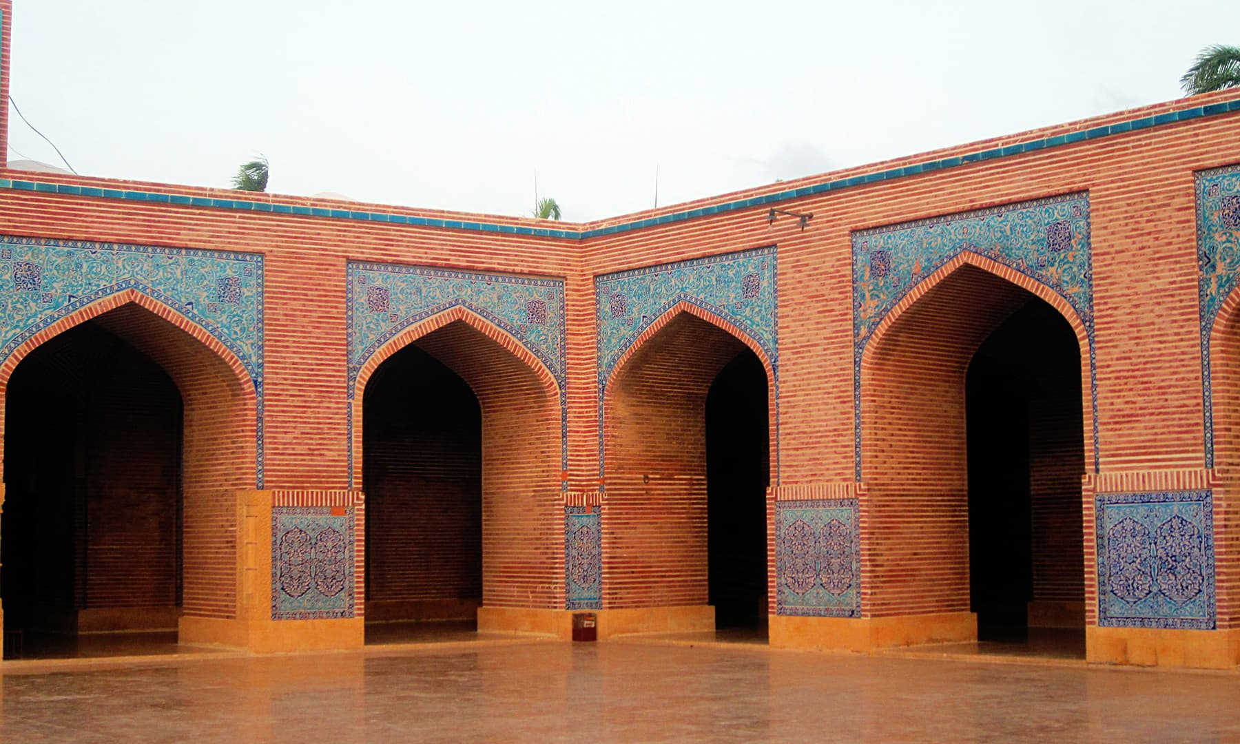 Archways in the courtyard.