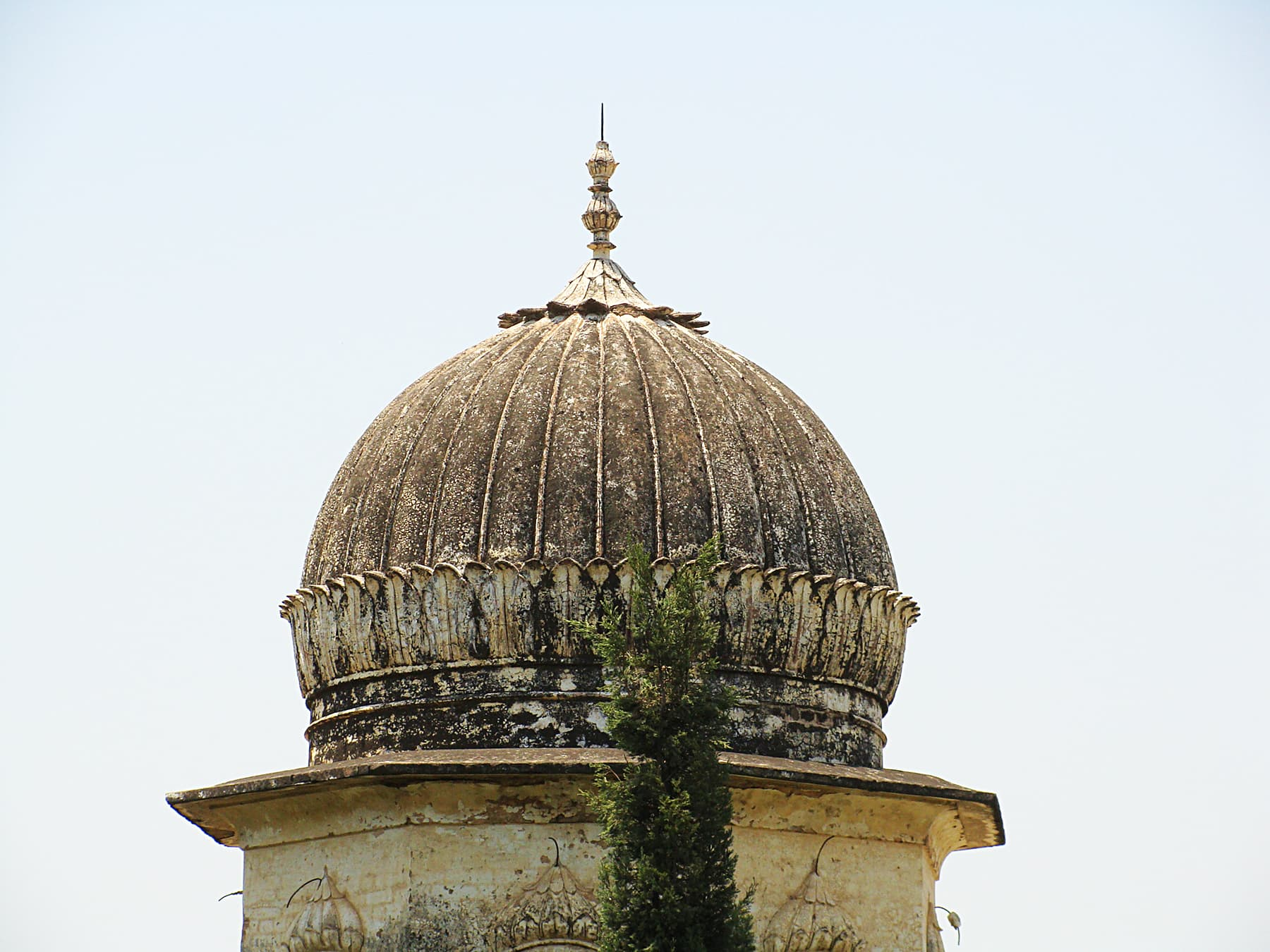 The ribbed dome of the Doberan Kallan gurdwara.