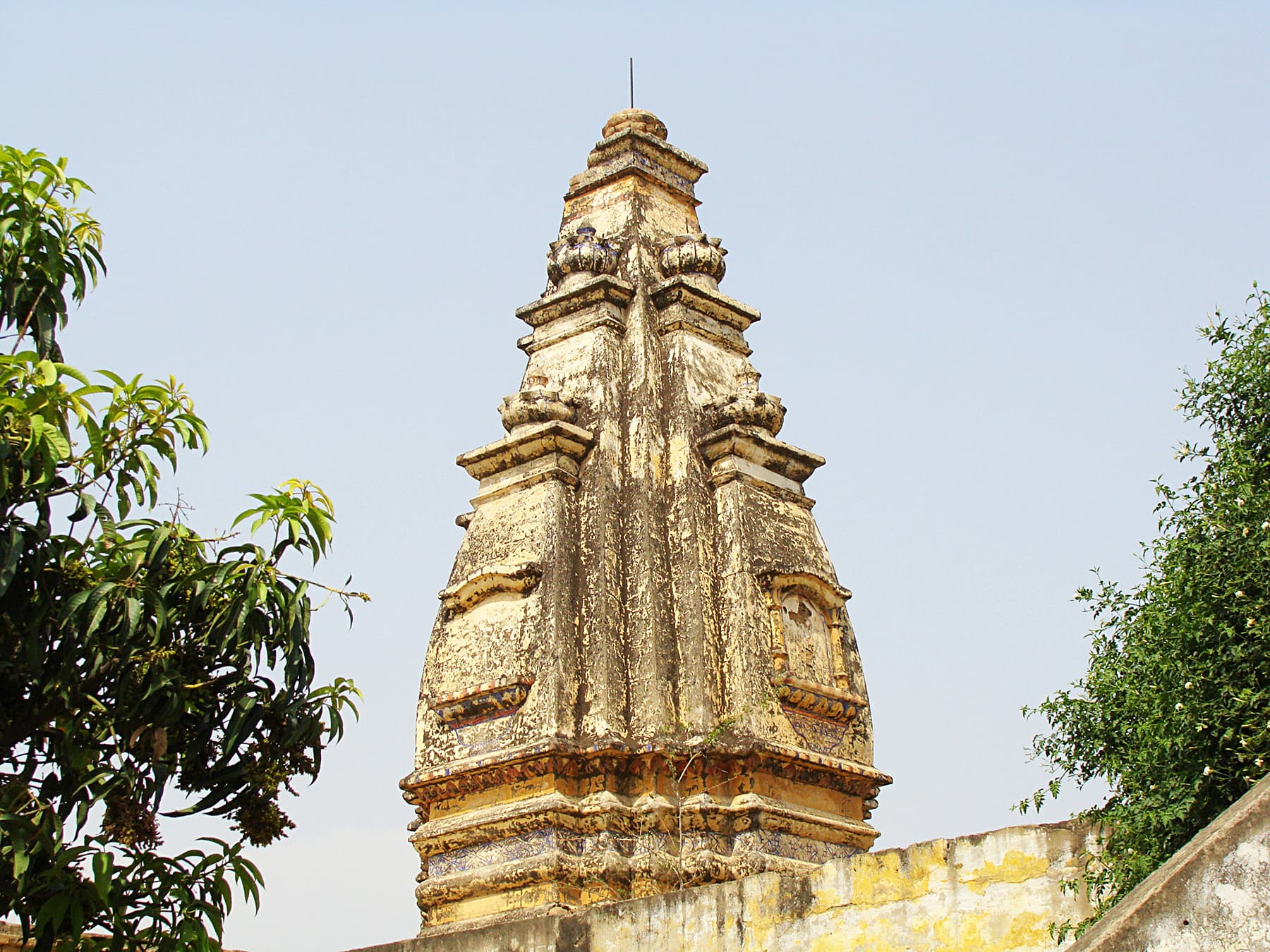 The shikara of Mohra Bhatta Temple.