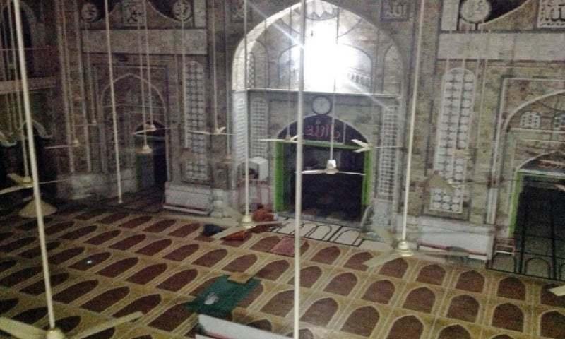 An interior view of Qasim Ali mosque in Peshawar