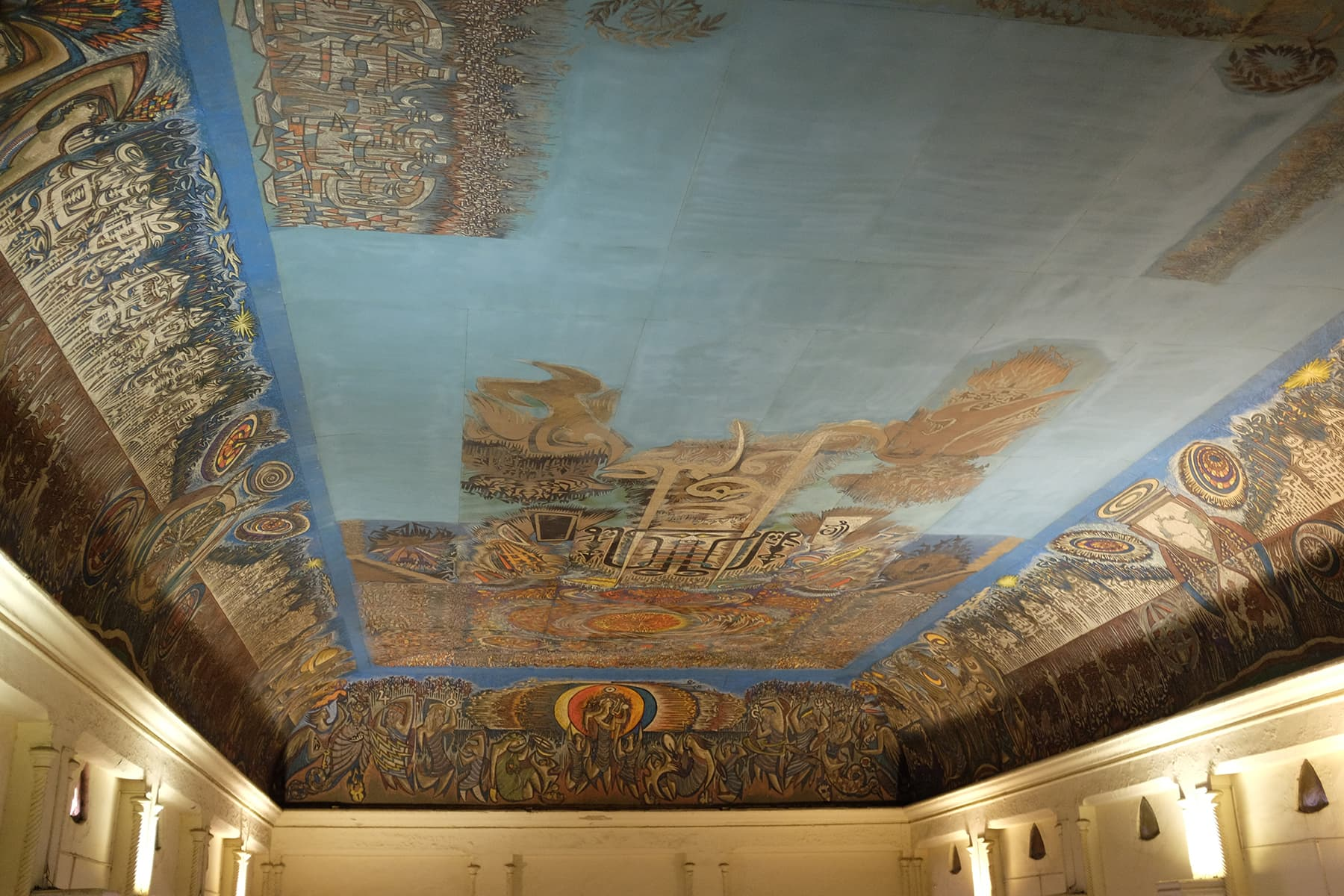 Frere Hall – Sadequain's mural on the ceiling.