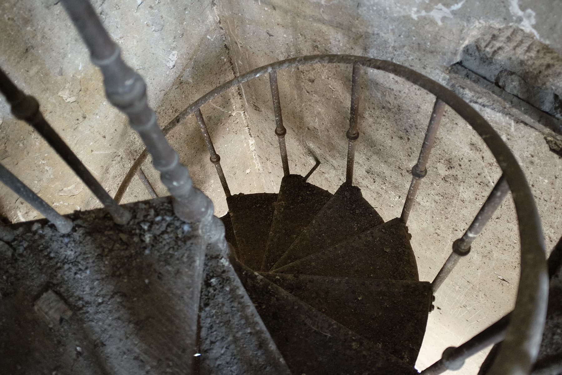 The shaky staircase to the empress market clock tower.