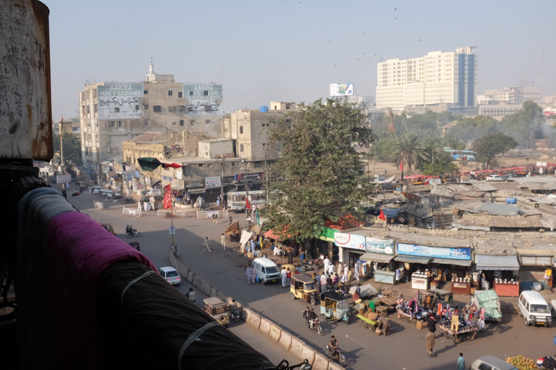 View from the house opposite Empress Market.