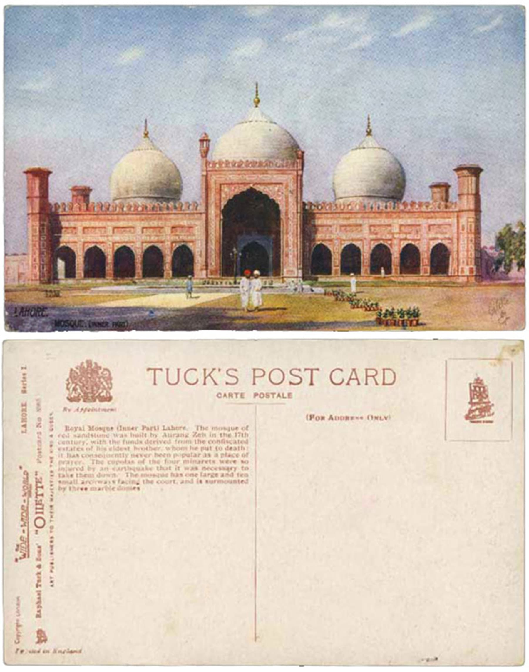 A post card originally produced by Raphael Tuck, London. From the collection of Tasveer Ghar.