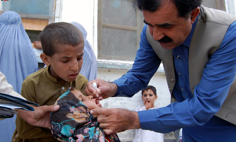 More than 50pc of the polio cases are due to parents' refusal to administer polio drops to their children, officials said. —INP/File