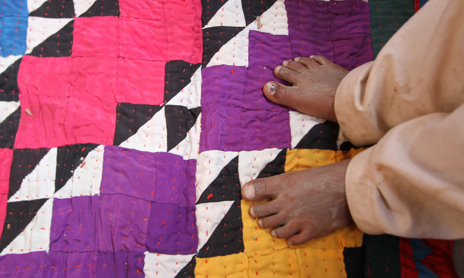 Rilli is the traditional quilt made by the women here; they make it mostly for personal use.
