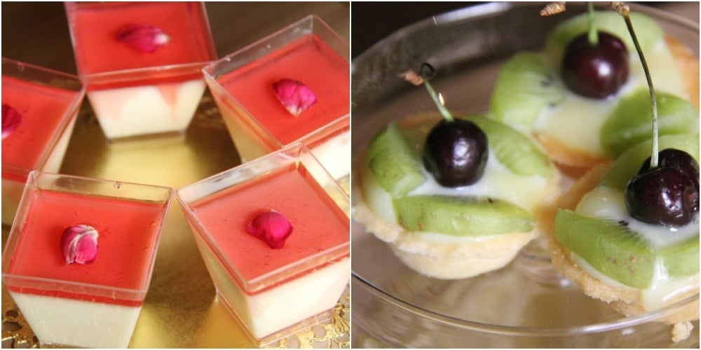 Fruit tartlets other mini treats make this Eid trolley a visual feast. -- Photo by Samiah Hamdani