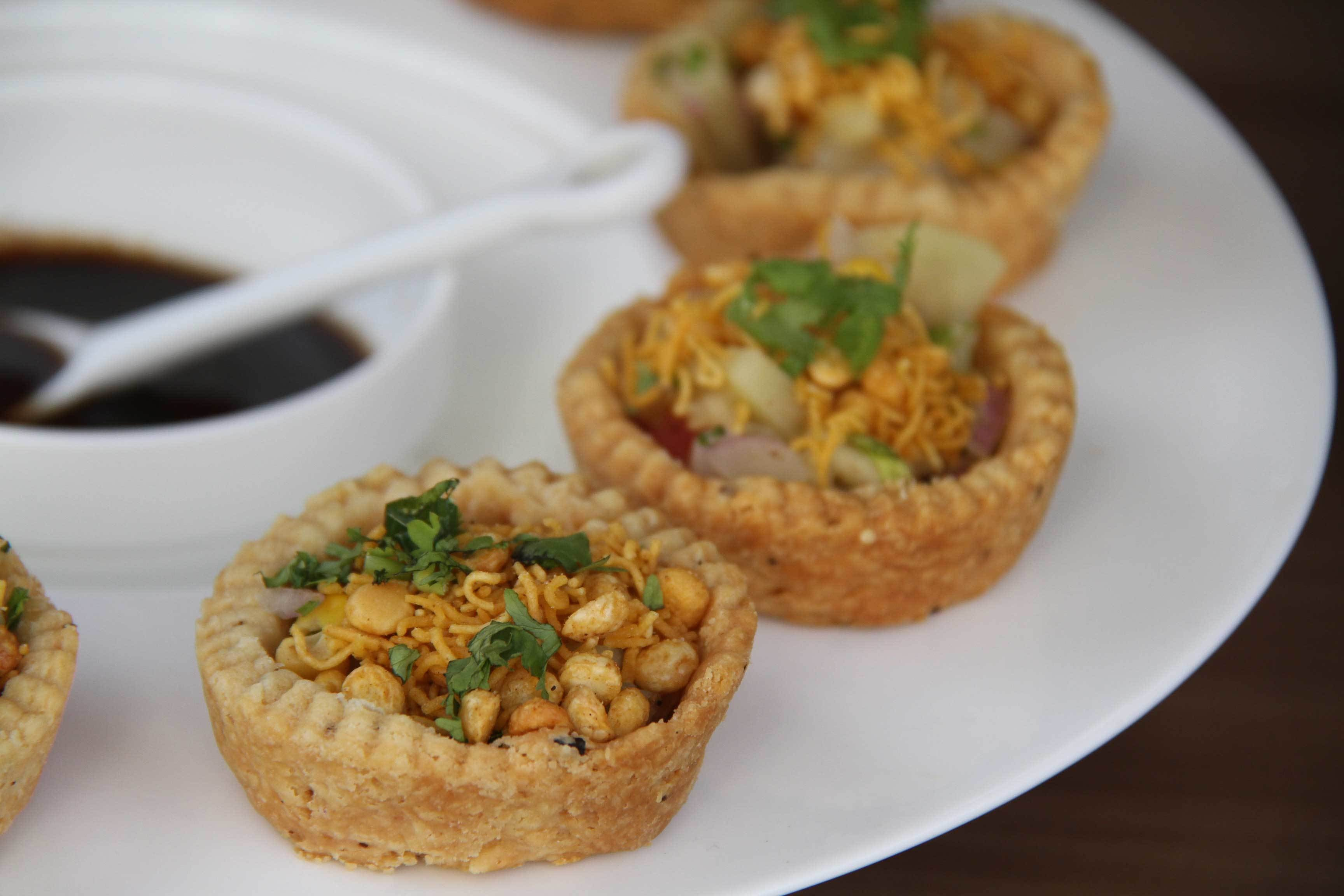 Amna takes a non-traditional approach to chaat. She serves it as tartlets! -- Photo by Samiah Hamdani