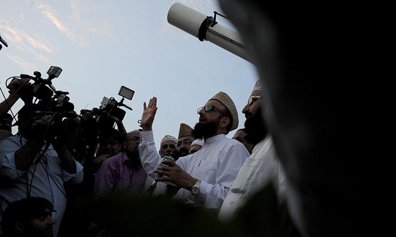 Mufti Muneeb-ur-Rehman addresses the media at the Pakistan Meteorological Department in Karachi | Arif Mahmood, White Star