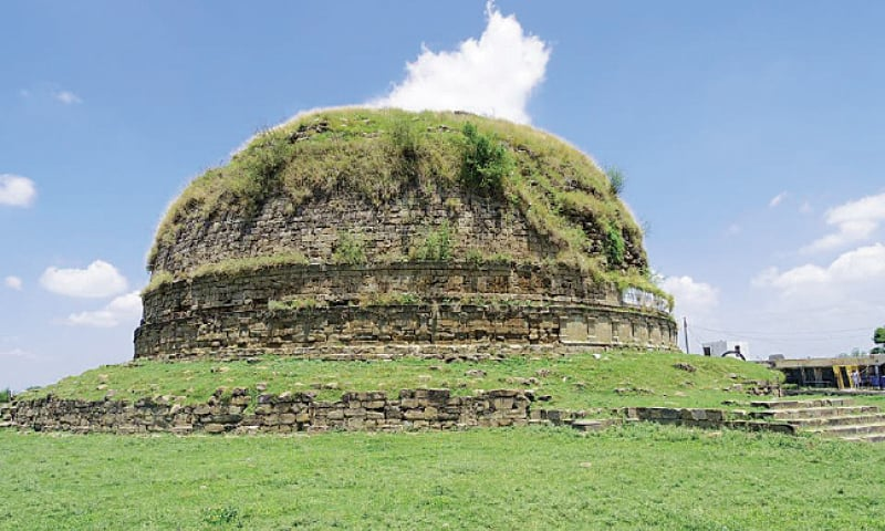 The 3rd century BC Buddhist Stupa in Mankiala village. – Photo by the writer