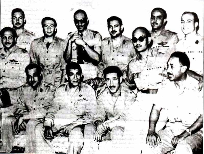 Members of the core group of the Free Officers Movement. Nasser is sitting first from left.