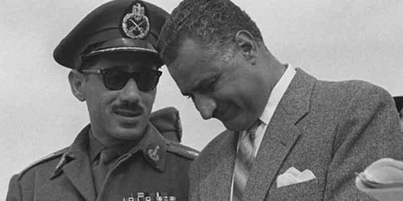 Sadat with Nasser. After Nasser's death, Sadat gradually folded Egypt's socialist experiment.