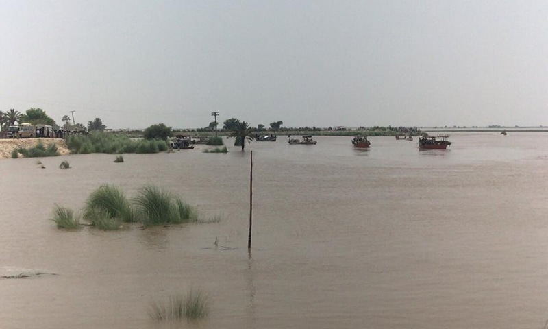 The picture shows an affected by floods in Rahim Yar Khan. —PM Office
