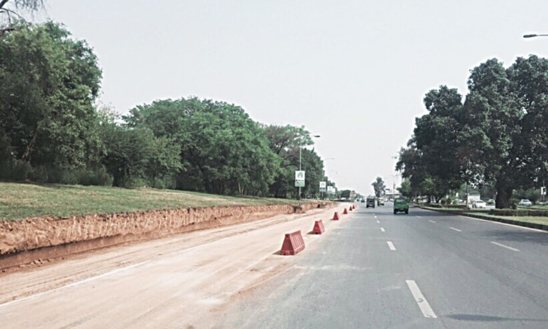 Expansion of the Islamabad Highway has started without conducting an environment impact assessment report - Photo provided by the writer