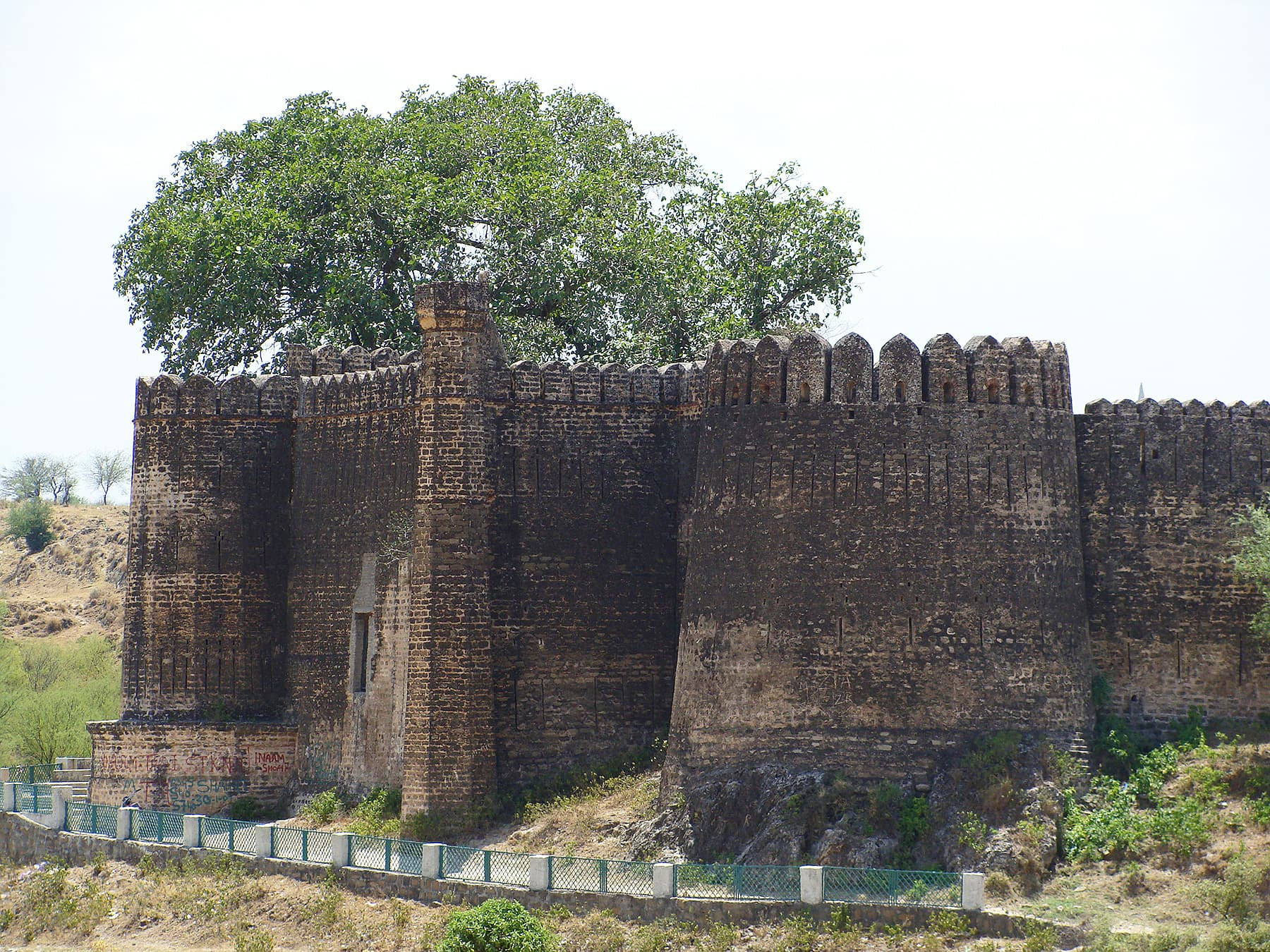 A closer view of bastions of the fort.