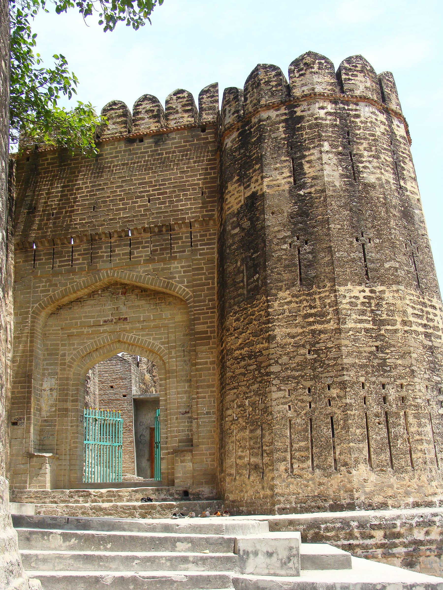 The main gate of the fort.