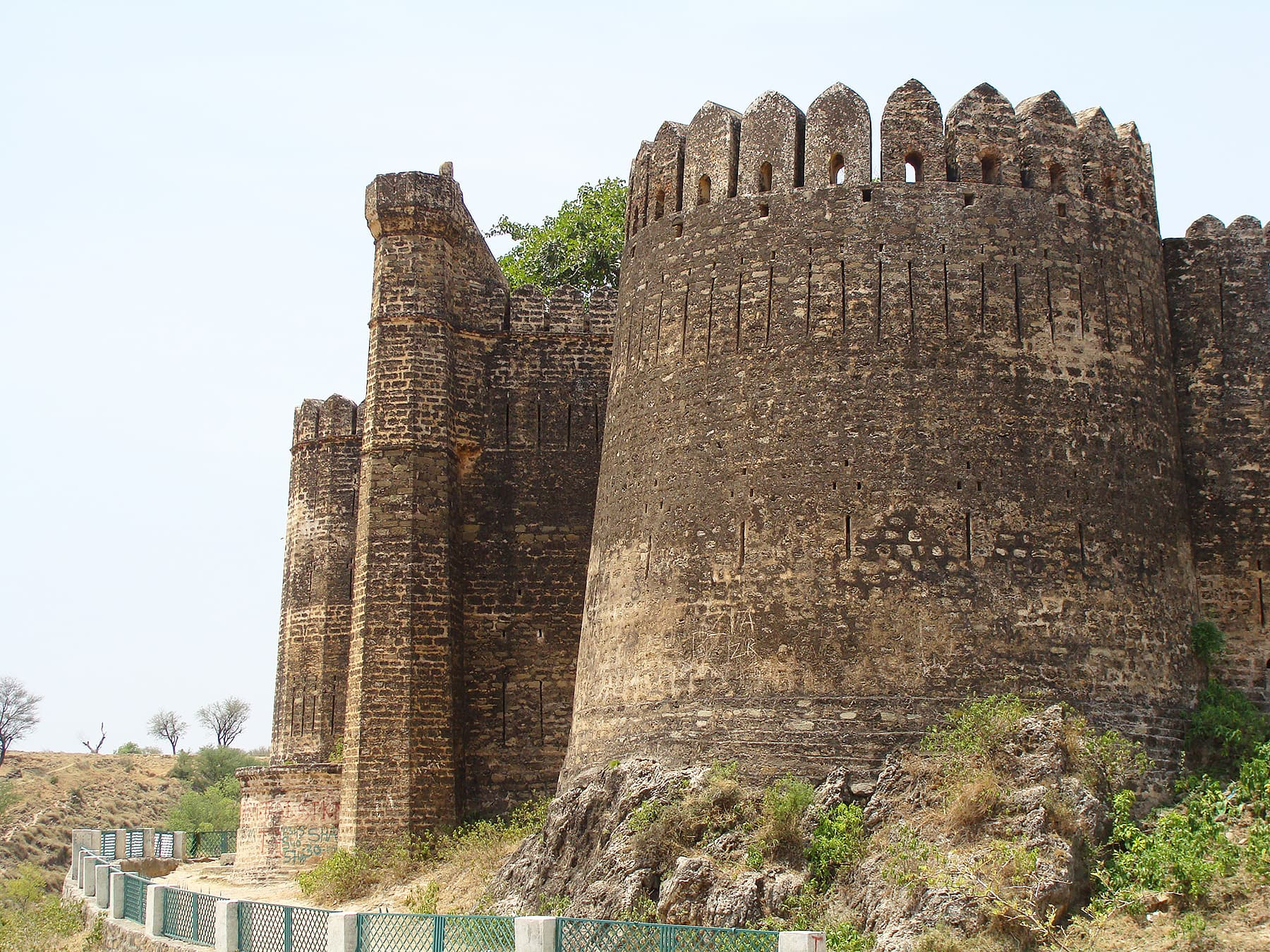 A view of Sangni Fort from the west.