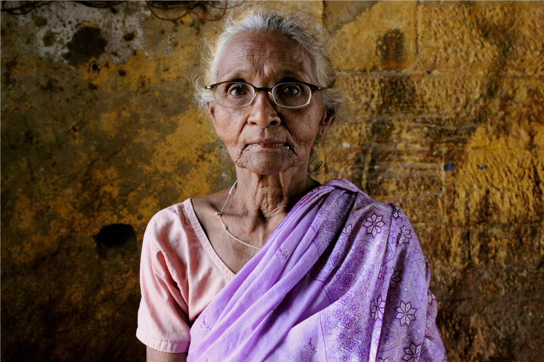 Ganga, the old lady of the temple at Soldier Bazaar.