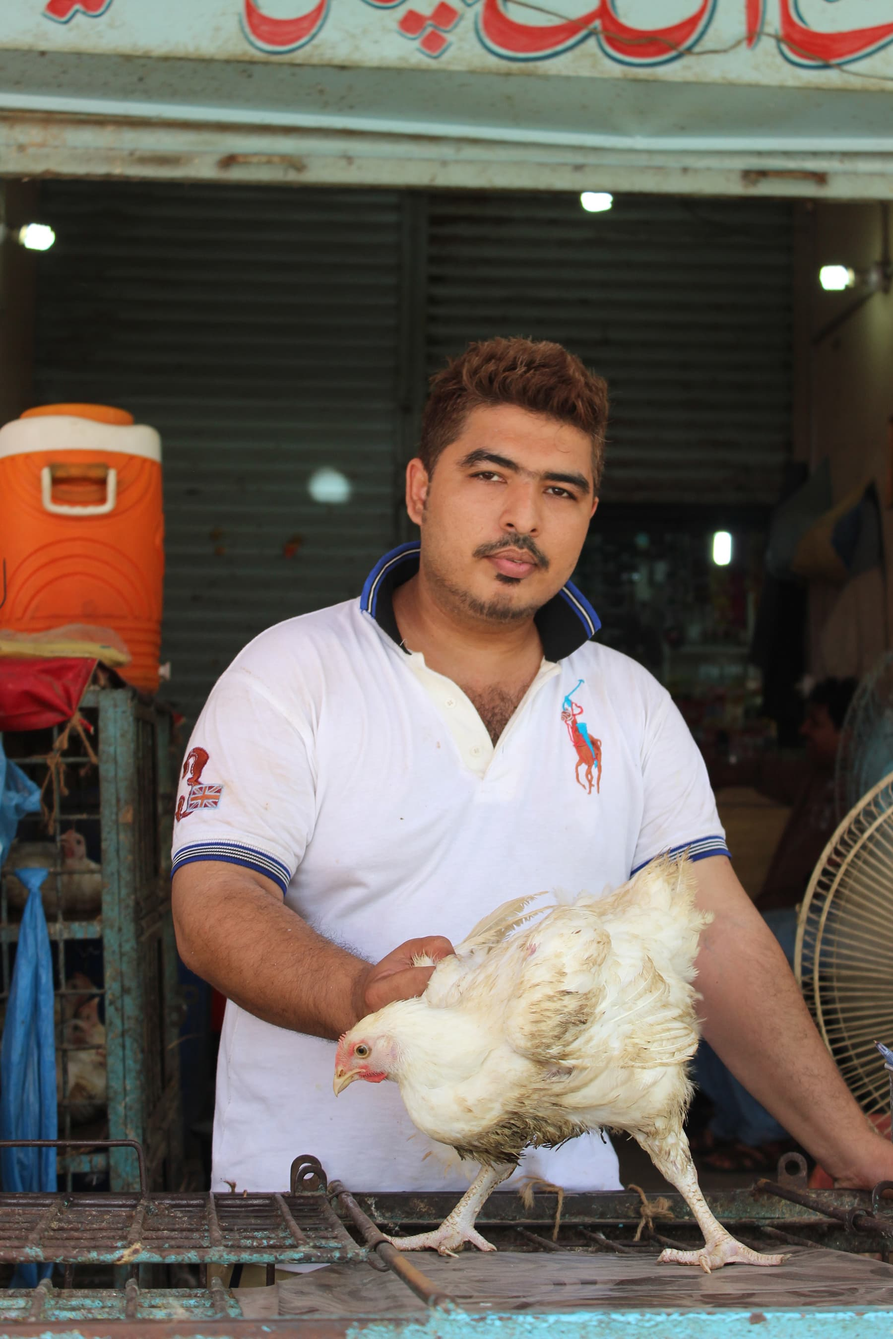 Faheem Malik at his chicken shop.