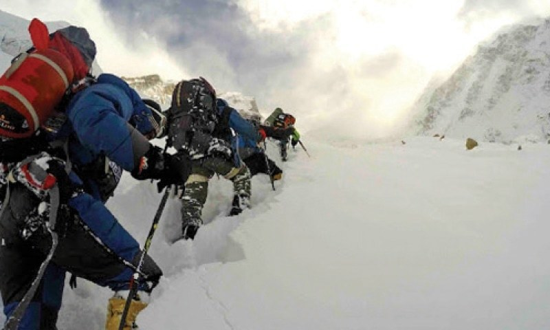 Representatives of the Alpine Club of Pakistan told Dawn that while the climb was tough, ideal weather conditions helped the mountaineers reach the peak at 8,080 metres.  —Dawn/File