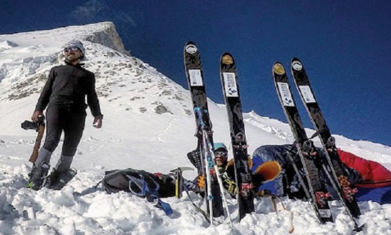Olek Ostrowski and Piotr Snigorski were attempting to descend Gasherbrum II on skiis when Ostrowski went missing.