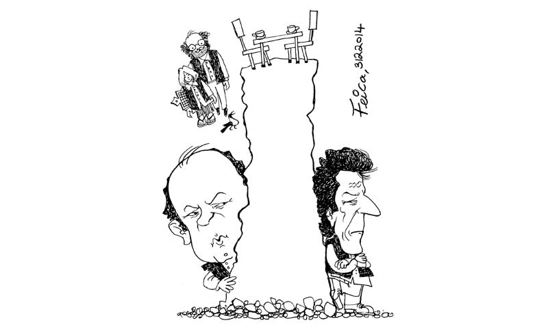 The split between PTI and Javed Hashmi will be recognised as a pivotal moment for Pakistan   Illustration courtesy dawn.com