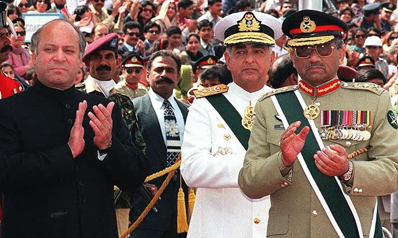 The political split between the PMLN and the military is perhaps the most significant of the past 30 years   AFP