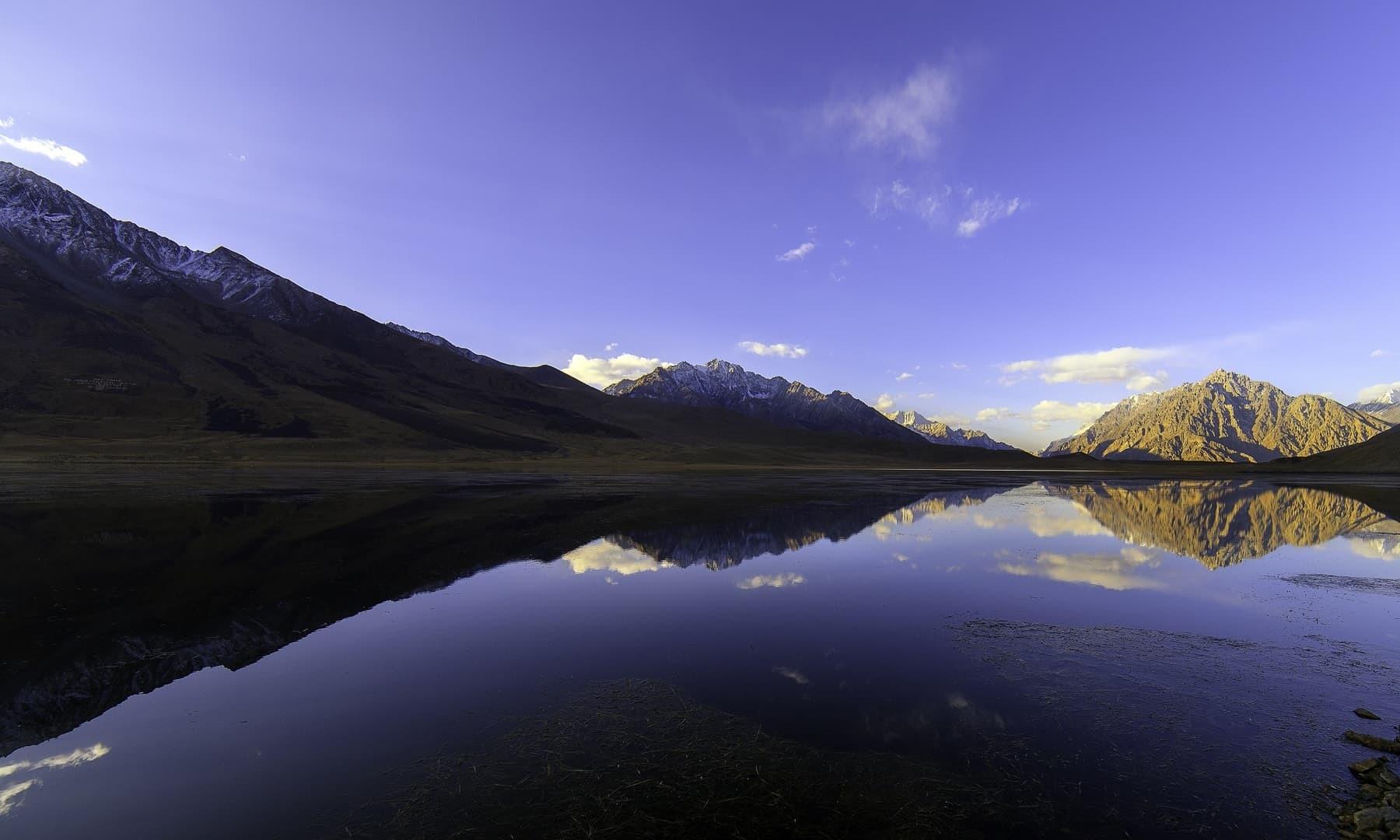 Sunrise at Shandur Lake.