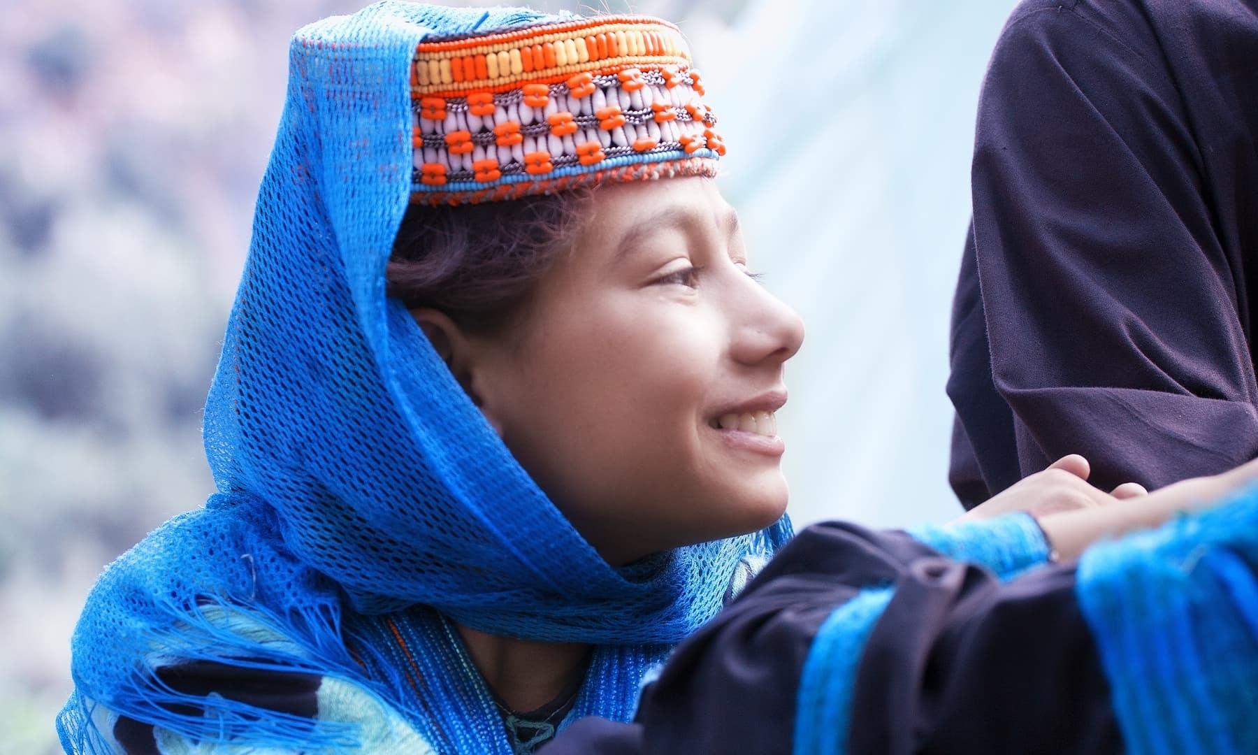 A Kalashi girl.