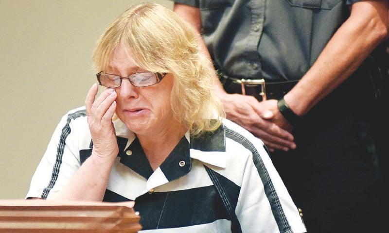 Plattsburgh: Joyce Mitchell appears in a court here on Tuesday.—Reuters
