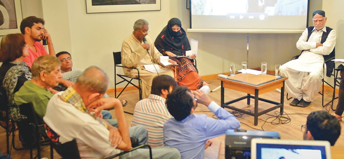 At the Unsilencing Balochistan: Take Two talk at T2F | Courtesy T2F