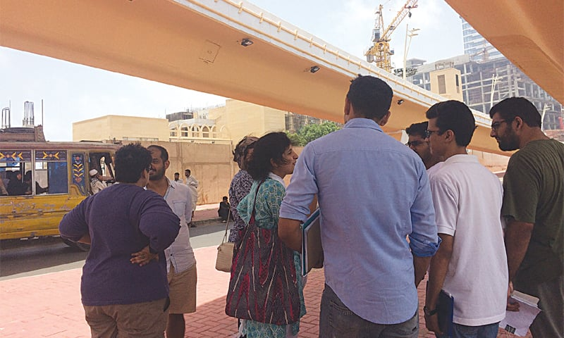 The session on 'Visualising Development' carried out in four different sites of the city