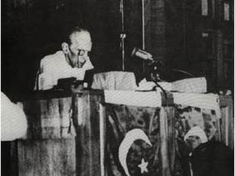 Jinnah addressing the Constituent Assembly (August 11, 1947).