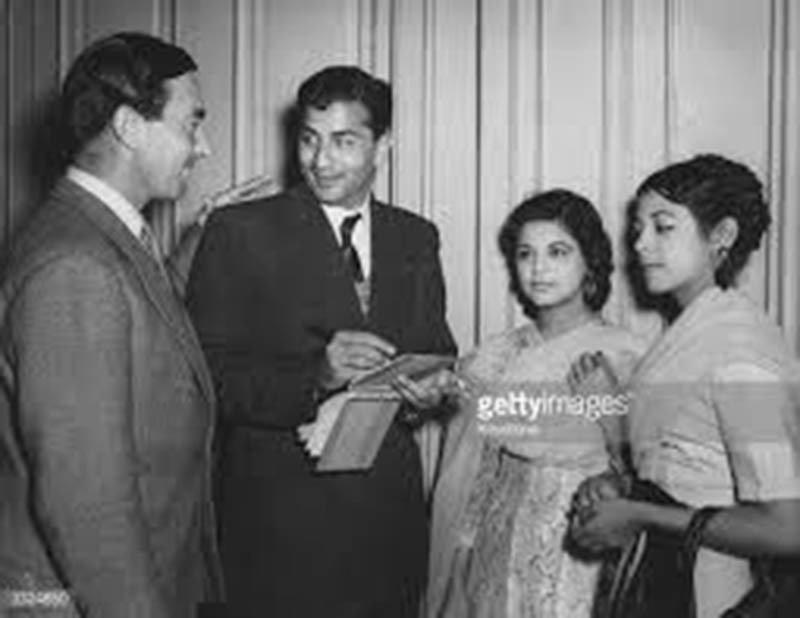 Famous Pakistan cricketer, Fazal Mahmood, signing autographs for fans in Lahore (1954.
