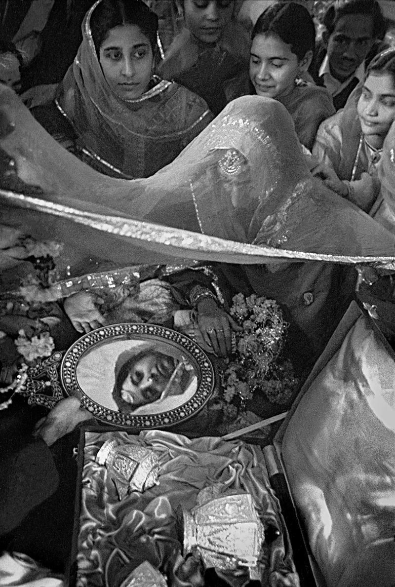 A wedding ceremony in Lahore (1954).