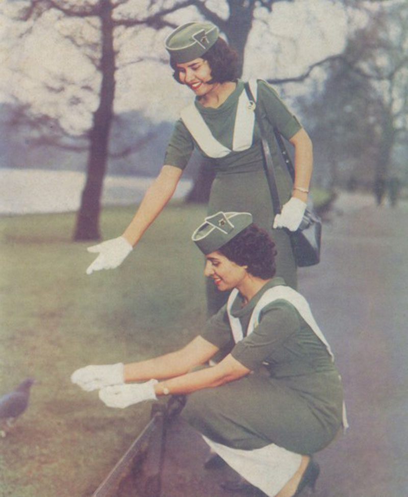 Stewardesses of the Pakistan International Airlines (PIA) in 1961.