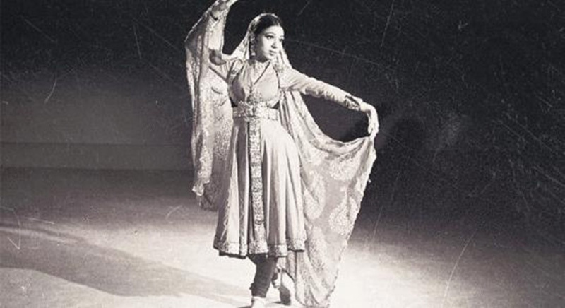 A classical dancer performs her art during the first ever television transmission in Pakistan in November 1964.