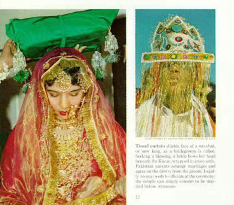 An article in the National Geographic magazine about a traditional Pakistani wedding (1968).