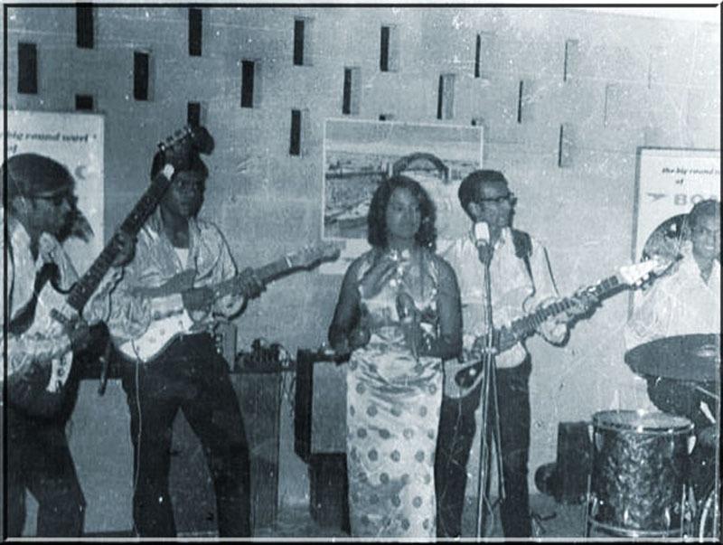 A club band in Karachi (1973).