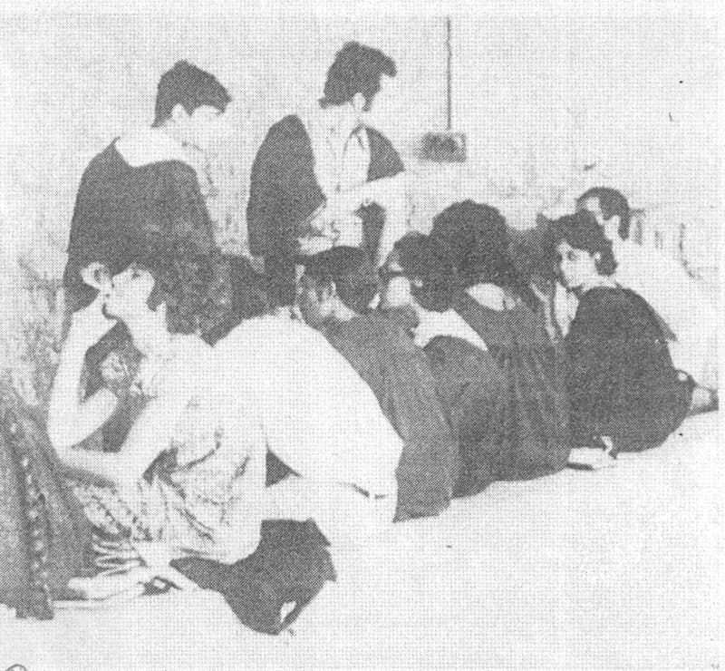 Students take a smoke break at the canteen of the Punjab University in Lahore (1973).