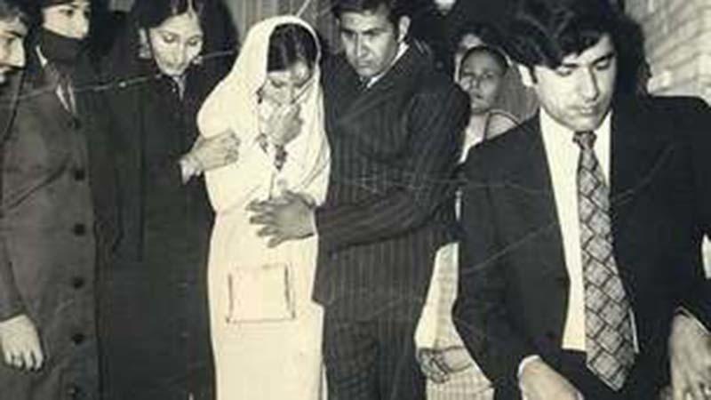The 'ruksati' ceremony at a wedding in Karachi in 1973.