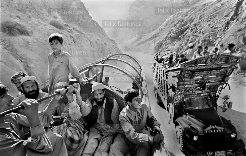 One of the first waves of Afghan refugees arriving in Pakistan after Soviet forces occupied Afghanistan in 1979.