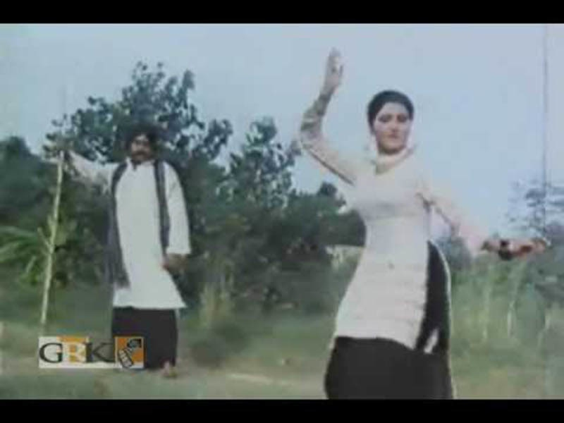 A scene from super hit Punjabi film, Maula Jat (1979). The film herald in the rise of Punjabi films and the collapse of Urdu cinema.