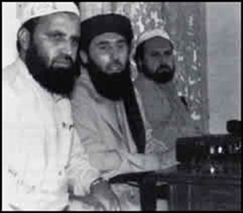 'Guest' Afghan insurgents hold a press conference in Peshawar in 1985.